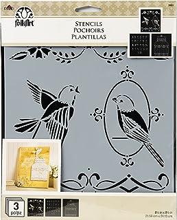 FolkArt Birdcage Variety Stencil Pack