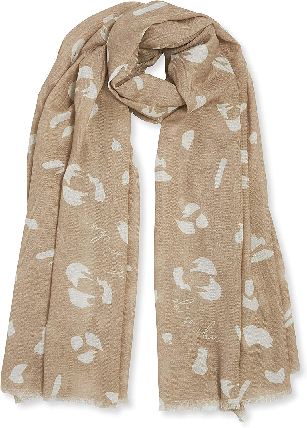 Katie Loxton Oh So Chic Womens One Size Fits Most Fashion Sentiment Scarf in Taupe