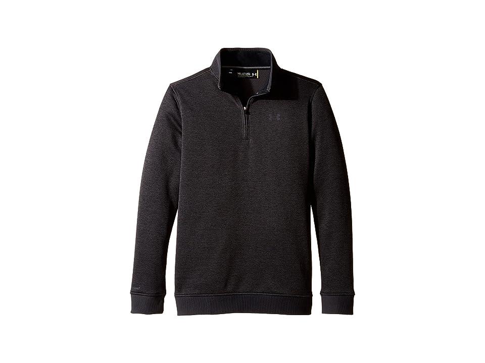 Under Armour Kids Storm Sweater Fleece 1/4 Zip (Big Kids) (Asphalt Heather/Asphalt Heather) Boy