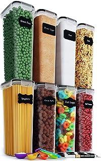 Chef's Path Lot de 8 récipients hermétiques pour aliments – Organisation de cuisine et garde-manger – Sans BPA – Boîtes en...