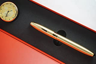 Made in Germany Sheaffer Legacy Heritage 22KT Gold Rollerball Pen and Matching Gold Sheaffer desk Clock Combo