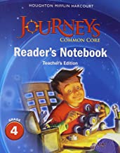 Journeys: Common Core Reader's Notebook Teachers Edition Grade 4