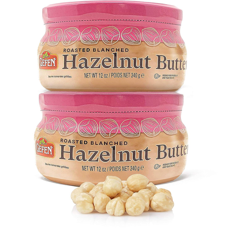 Gefen Roasted Blanched Hazelnut Butter 12oz (2 Pack), Kosher for Passover