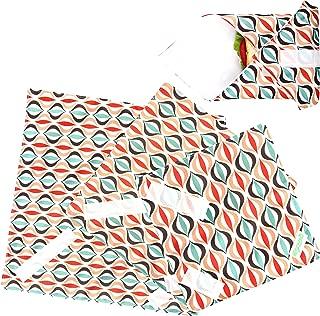 Wegreeco Reusable Sandwich Wrap, (Set of 3) - Geometry