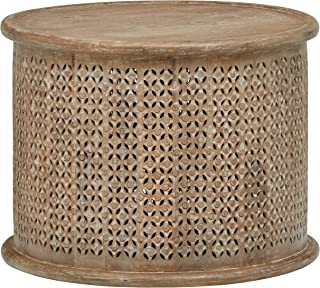 """00/"""" W x 17 Christopher Knight Home Rache Modern Round Coffee Table with Hammered Iron 00/"""" H 00/"""" L x 26 Gold 26"""