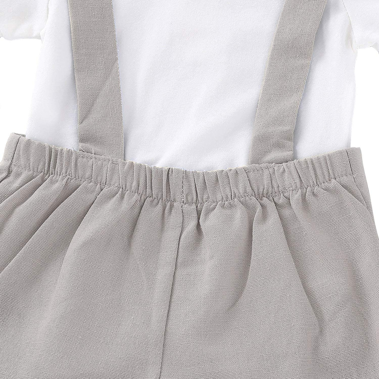 SOBOWO Baby Boys Gentleman Outfits Suits Infant Short//Long Sleeve Romper+Suspenders Pants+Bow Tie Overalls Clothes Set for Wedding Baptism Cake Smash Christening Party
