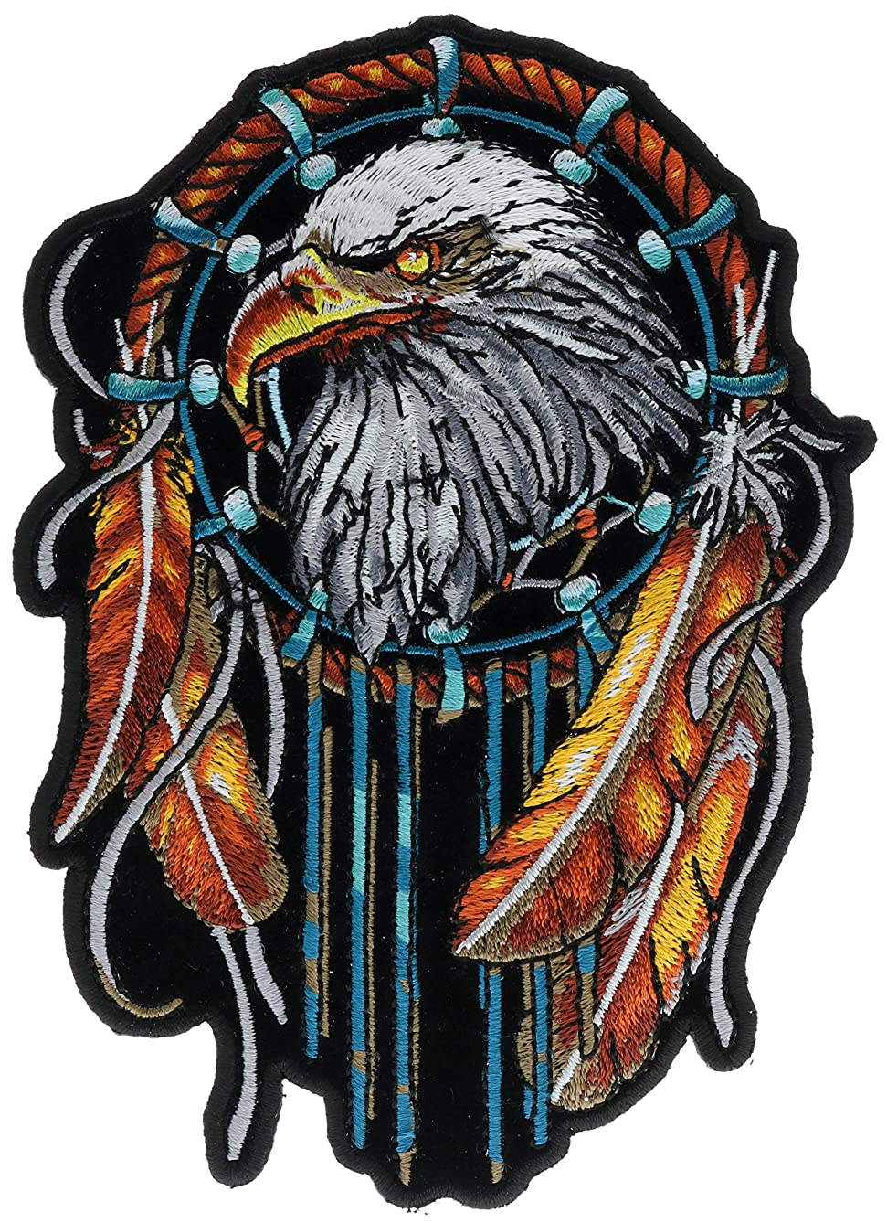Eagle Dream Catcher 4 x 6 inch Iron On Patch HTL10147
