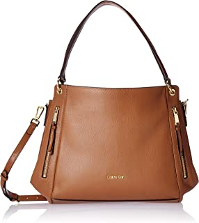 Melanie Pebble Leather Slouchy Zip Face Hobo