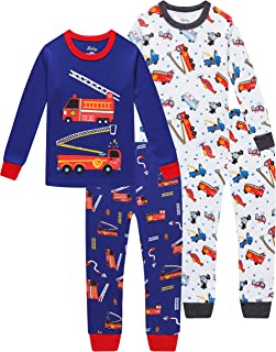 Sponsored Ad - Truck Boys Pajamas Toddler Sleepwear Clothes T Shirt Pants Set for Kids Size 2Y-7Y