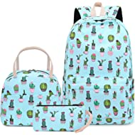 BLUBOON Teen Girls Backpack Set with Insulated Lunch Box and Pencil Case School Bag for Kids...