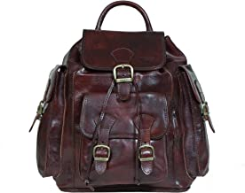 I Medici Stefano Three Backpack (IM 7300) in Chocolate
