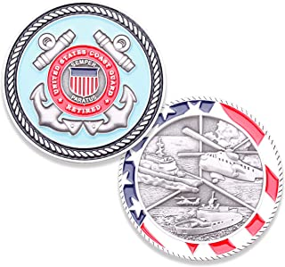 Coast Guard Retired Challenge Coin - United States Coast Guard Retired Challenge Coin - Amazing US Coast Guard Military Coin - Designed by Military Veterans!