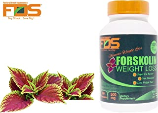 Forskolin Extract For Weight Loss - Premium Pure Forskolin 100%-Best Fat Burners Pills -500 Mg 60 Veg Caps- A Solution for How to lose weight fast-lose weight fast for women and Men-100%Money Back!