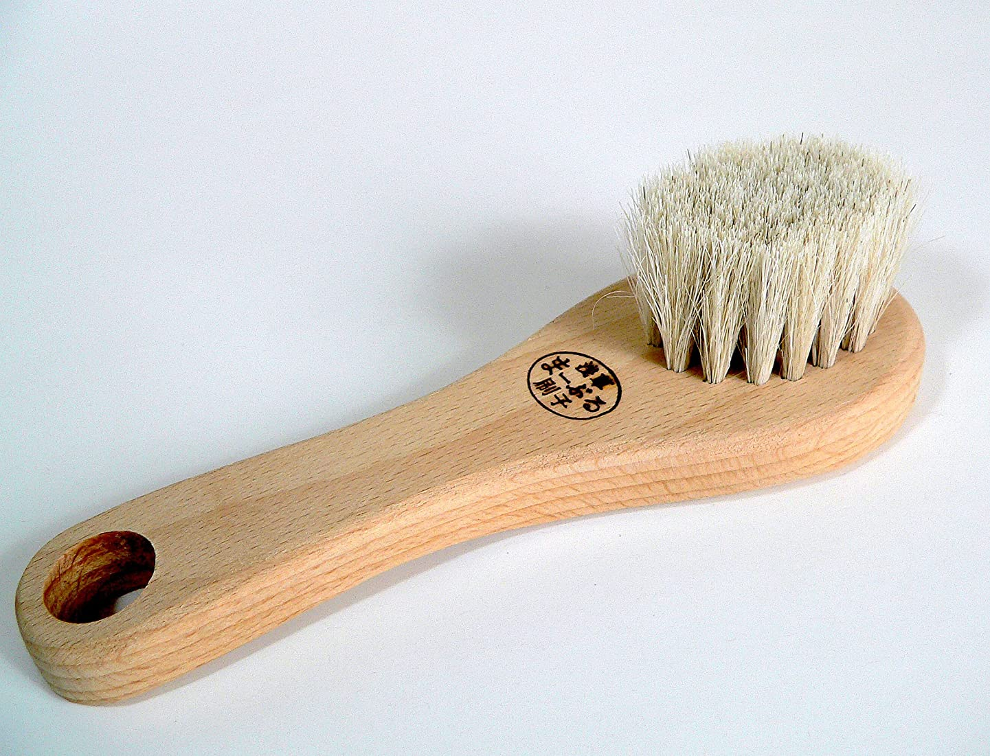セクタウェイトレス財政【まーぶる刷子】 フェイスブラシ 白馬毛使用! ※洗顔用ブラシです。