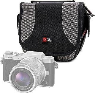 DURAGADGET Bolso Negro Y Gris para Cámara Lumix GF8 | DMC-FZ300 | Nikon Coolpix B500 | B700 Bridge | Pentax K-1 SLR
