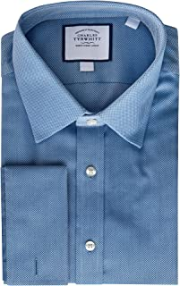 Charles Tyrwhitt Non Iron Classic Fit Mens Dress Shirt with French/Double Cuff