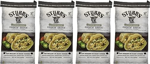 Stubb's Hatch Chili Cookin Sauce 12 oz ( 4 pack)