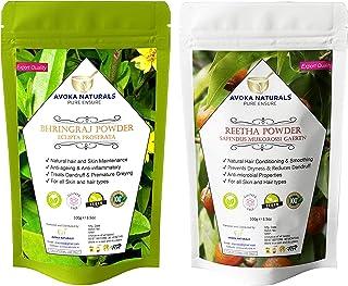 Avoka Naturals Bhringraj and Reetha powder Combo Pack 100gm each