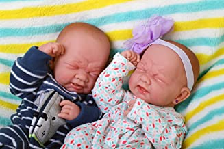 Realistic Reborn Baby Twins boy and Girl Preemie with Beautiful Accessories Anatomically Correct Washable Berenguer 14