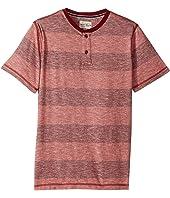 Lucky Brand Kids - Short Sleeve Henley Striped (Big Kids)