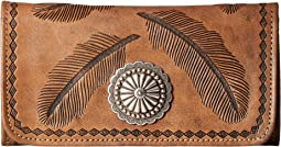American West Sacred Bird Trifold Wallet