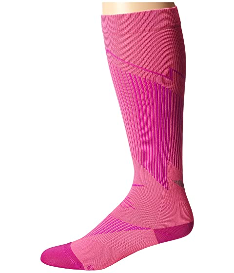 Nike Elite Running Graduated Pink Pow/Fuchsia Flash/Fuchsia Flash Running Socks 8318597