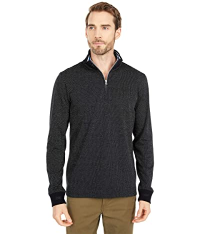 Robert Graham Triple Crown 1/4 Zip Sweater (Black) Men