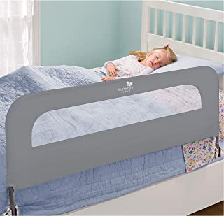 Summer Infant Extra Long Folding Single Bedrail, Grey