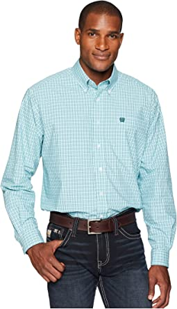 Cinch Long Sleeve Plain Weave Plaid