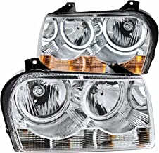 Chrysler 300 Dual Ccfl Halo Headlights + 8 Led Fog Bumper Light