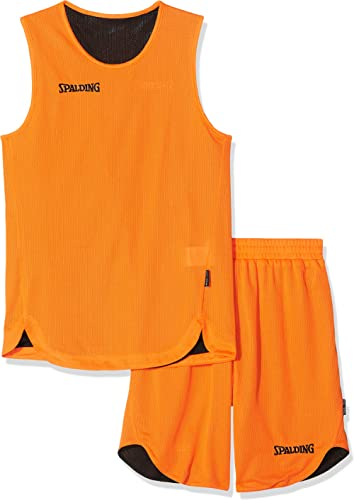 SPALDING - DOUBLE FACE KIT REVERSIBLE JUNIOR - Kit Maillot et Short de Basket Junior - Kit reversible Junior - Confor...