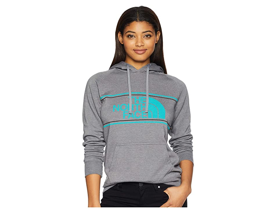 The North Face Edge to Edge Pullover Hoodie (TNF Medium Grey Heather/Kokomo Green) Women