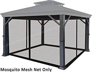 APEX GARDEN Universal 10' x 12' Gazebo Replacement Mosquito Netting (Mosquito Net Only) (Black)