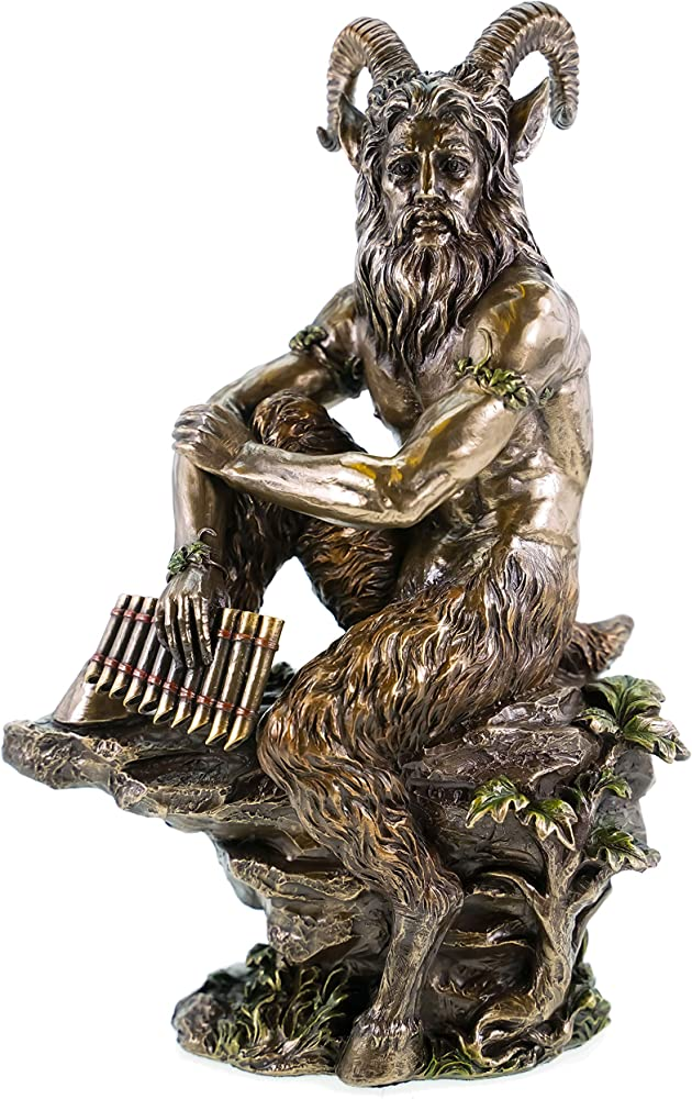 Veronese statua di pastore greco pan