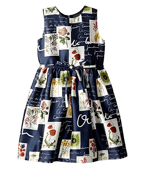 Oscar de la Renta Childrenswear Sleeveless Fit and Flare Floral Photo Dress (Little Kids/Big Kids)