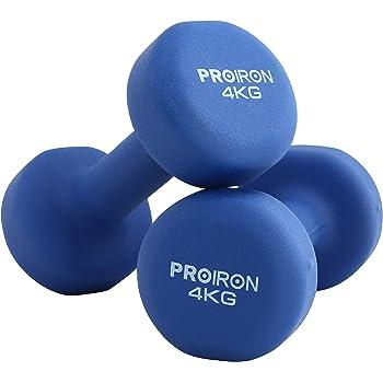 PROIRON Pesi Palestra in Casa Fitness e Palestra Manubri e Pesi Fitness Pesi per Palestra Manubrio (Set di 2) 1-10kg