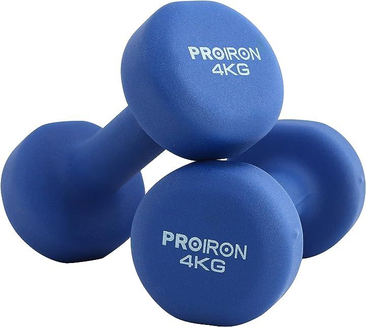 Pesi palestra in casa fitness e palestra manubri home gym   (set di 2) 1-10kg PRKNED04K Proiron