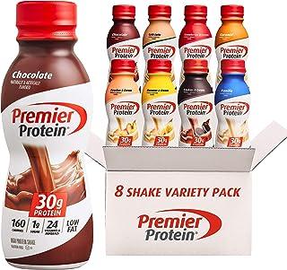 Premier Protein Shake, 8 Flavor Variety Pack, 30g Protein, 1g Sugar, 24 Vitamins & Minerals, Nutrients to Support Immune H...