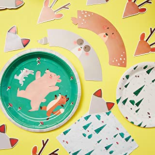 Woodland Creatures Baby Shower - Woodland Party Supplies - Adorable Animals for Showers and Birthdays - 12 Pack