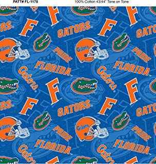Florida Gators Cotton Fabric with New Tone ON Tone Design Newest Pattern