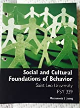 Best social and cultural foundations of behavior Reviews