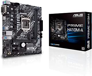 ASUS PRIME H410M-A/CSM LGA1200 (Intel® 10th Gen) لوحة الأم التجارية الصغيرة (M.2، يدعم HDMI، D-Sub، DVI، USB 3. 2 Gen 1، ر...