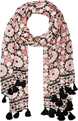 Floral Mosaic Oblong Scarf