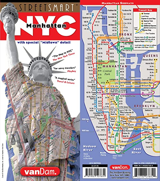 StreetSmart NYC Map Midtown Edition By VanDam Laminated Pocket City Street Map Of Manhattan W All Attractions Museums Sights Hotels Broadway Theaters NYC Subway Map 2019 Edition