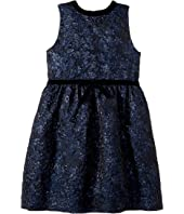 Oscar de la Renta Childrenswear - Sleeveless Bow Front Fit and Flare Dress (Little Kids/Big Kids)