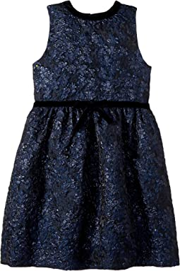 Sleeveless Bow Front Fit and Flare Dress (Little Kids/Big Kids)
