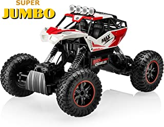 Top Race Jumbo Remote Control RC Car Off Road Crawler 4WD RC Monster Truck with Heavy Rubber Air Tires 2.4Ghz (TR-150)
