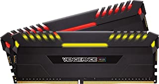 CORSAIR VENGEANCE RGB 16GB (2x8GB) DDR4 2666MHz C16 Desktop Memory - Black