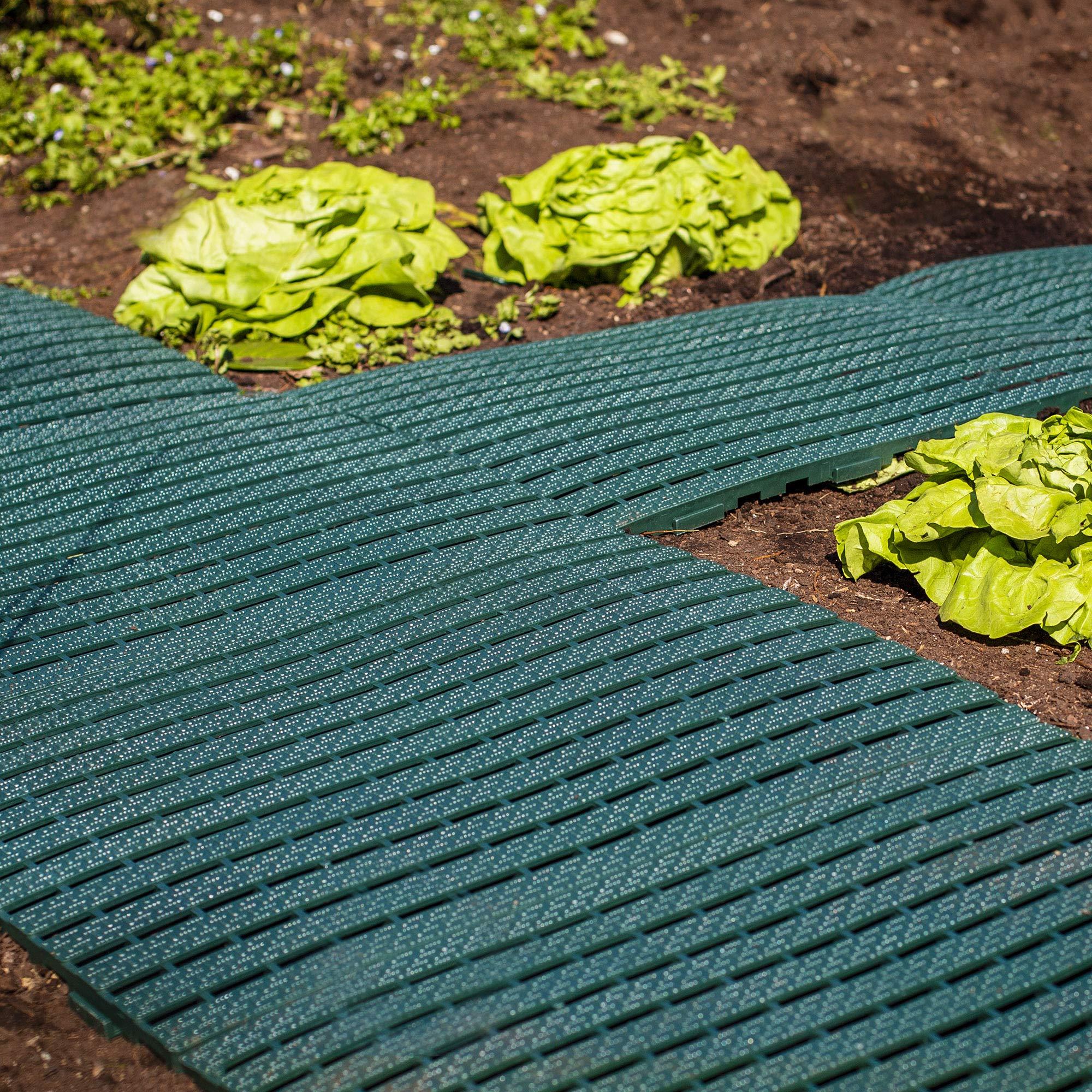UPP® alfombra de jardín I camino para huerta y jardín I rejilla antideslizante para jardín, balcón, piscina o cualquier superficie (4 placas): Amazon.es: Bricolaje y herramientas