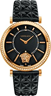 Versace Women's VQG050015 V-HELIX Analog Display Swiss Quartz Black Watch